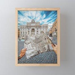 Lost in Rome Framed Mini Art Print