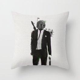 Boba fiction Throw Pillow