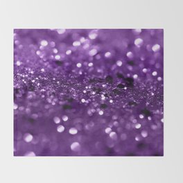 Purple Lady Glitter #1 #shiny #decor #art #society6 Throw Blanket