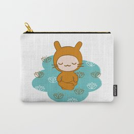 Yoga Lotus Bunny Illustration Carry-All Pouch