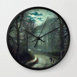 John Atkinson Grimshaw - Nearing Home - Victorian Retro Vintage Painting Wall Clock