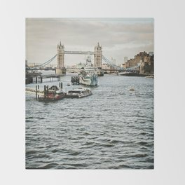 Vintage London 03 Throw Blanket