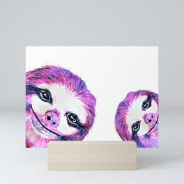 Sally the Sloth twinning Mini Art Print