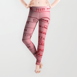 Library Card 23322 Pink Leggings