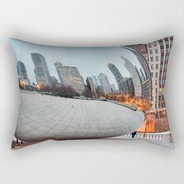 Chicago Bean - Big City Lights Rectangular Pillow