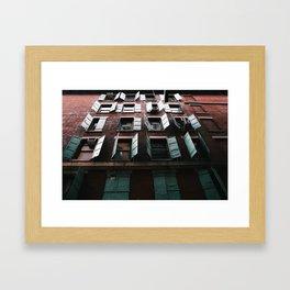 Open Windows Framed Art Print