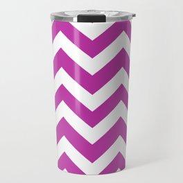 Byzantine - violet color - Zigzag Chevron Pattern Travel Mug