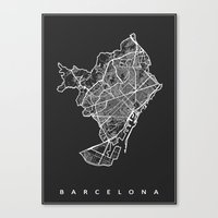 barcelona Canvas Prints featuring BARCELONA by Nicksman