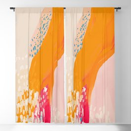 The Abstract Shape Of Spring Blackout Curtain