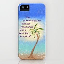 Belmont's Beach With Poem iPhone Case