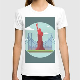 Statue in the scope T-shirt