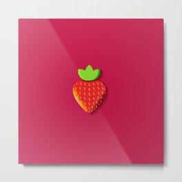 Fraise - Strawberry Metal Print