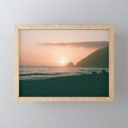 Beach Sunset Framed Mini Art Print