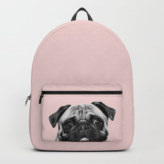 Blush pink Pug pop by roseaesthetic
