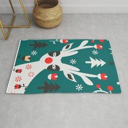 Merry Christmas reindeer Rug