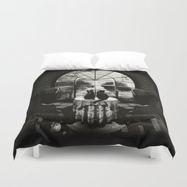 Room Skull B&W Duvet Cover