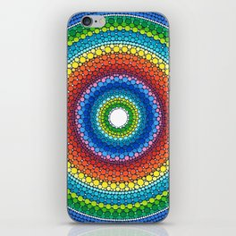 Happy Rainbow Mandala iPhone Skin
