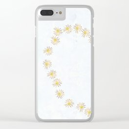 Daisy chains and daisy hearts Clear iPhone Case