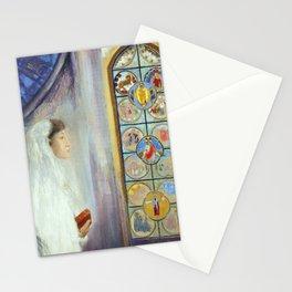 "Odilon Redon ""Portrait of Simone Fayet in Holy Communion"" Stationery Cards"