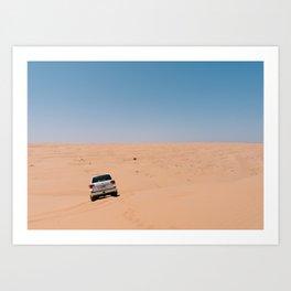 Truck in the Desert, Oman Art Print