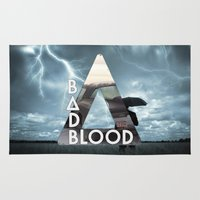 bastille Area & Throw Rugs featuring Bastille - Bad Blood by Thafrayer