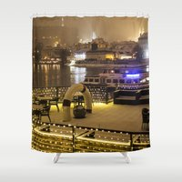 prague Shower Curtains featuring Prague 4 by Veronika