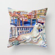 Grand Canal Venice Italy Throw Pillow
