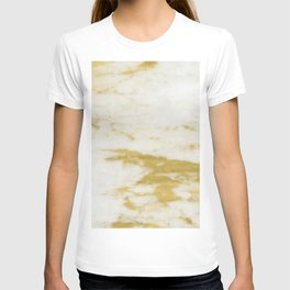 Marble - Shimmery Gold Marble and White T-shirt