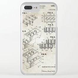 Lego/patent Clear iPhone Case