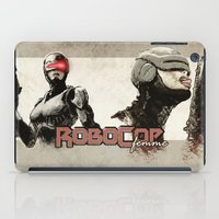 robocop iPad Cases featuring Robocop Girl - Desafío52 by Marcos Raya Delgado