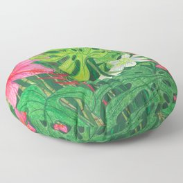 Hawaiian Garden Floor Pillow