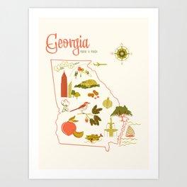 Georgia State Love Art Print