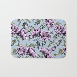 Summer Rose Garden Bath Mat