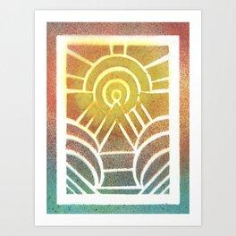 Drawing Meditation: Stencil 2 - Print 2 Art Print