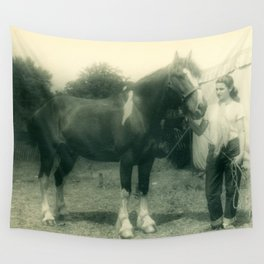 A Girl and her 4-H Horse 1943 Wall Tapestry