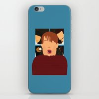 home alone iPhone & iPod Skins featuring home alone by Live It Up