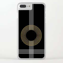GUITAR IN ABSTRACT (geometric art deco) Clear iPhone Case