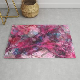 Red Dawn Abstract Rug