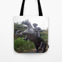Ataturk on Horseback Tote Bag