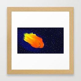 Hot Comet Framed Art Print