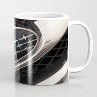 subaru Mugs featuring Subaru Logo by SShaw Photographic
