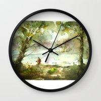 fishing Wall Clocks featuring Fishing by Baris erdem