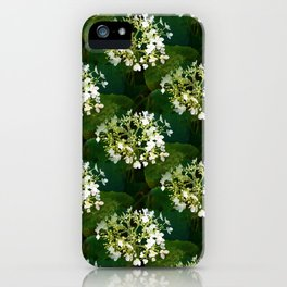 Hills-of-snow hydrangea pattern iPhone Case