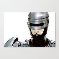 robocop Canvas Prints featuring Robocop by Nicole Cuvin