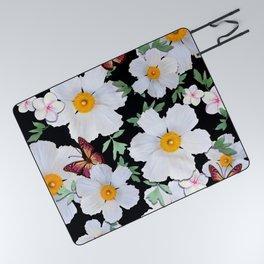 Matilija Poppies and Plumeria Picnic Blanket