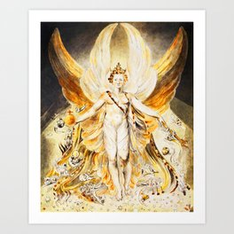 SATAN IN HIS ORIGINAL GLORY - WILLIAM BLAKE Art Print