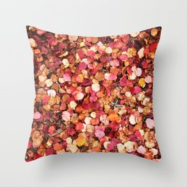 Christmas Leaves in Sonoma County Throw Pillow