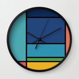 The Colors of / Mondrian Series - Ponyo- Miyazaki Wall Clock