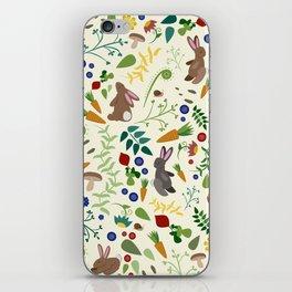 Rabbits In The Garden iPhone Skin