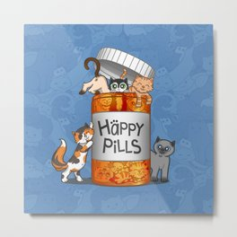 Happy Pills Metal Print